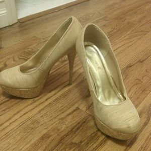 Charlotte Russe almond toe pumps